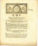 LOT DE 3 DOCUMENTS ET ORDONNANCES RELATIFS À LA DÉCORATION MILITAIRE, AUX CROIX DE SAINT-LOUIS, RÉVOLUTION. (4)