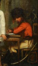 Photo 4 : LA RECRUE MILITAIRE : Huile sur toile, Seconde moitié du XIXè siècle.