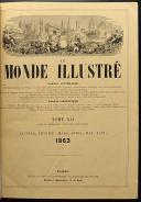 LE MONDE ILLUSTRÉ, TOME XII : 2 VOLUMES RELIÉS, de janvier à juin 1863. (5)