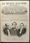 Photo 6 : LE MONDE ILLUSTRÉ, TOME XII : 2 VOLUMES RELIÉS, de janvier à juin 1863.