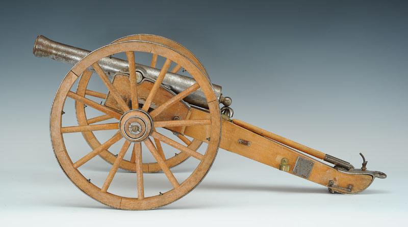 pi ce d 39 artillerie miniature par jukar eibar espagne canon de douze en acier mod le 1853. Black Bedroom Furniture Sets. Home Design Ideas