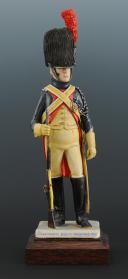 Photo 1 : FIGURINE EN FAÏENCE PAR BERNARD BELLUC : GENDARME D'ÉLITE BRIGADIER 1806.