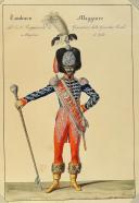 ANONYME. Régiments d'infanterie et Garde royale en grand et petit uniforme vers (1820). (1)