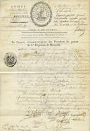 LETTRE SIGNÉE AVEC VIGNETTE DU 8ème RÉGIMENT DE HUSSARDS, Révolution.