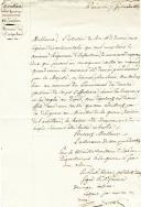 Drapeaux des anciens régiments d'Infanterie remplacés par les Légions départementales. CONSIGNES DU LIEUTENANT GÉNÉRAL Baron N. FRIRION AU CONSEIL DU 22e RÉGIMENT DE LIGNE, 7 septembre 1815.