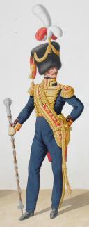 1824. Garde Royale. Artillerie à Pied. Tambour-Major. (2)