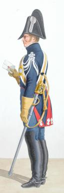 Photo 2 : 1819. Gendarmerie Royale. Compagnie des Chasses, Voyages et Résidences du Roi. Chef d'Escadron, Gendarme.