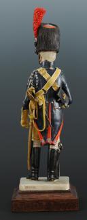 FIGURINE EN FAÏENCE PAR BERNARD BELLUC : GENDARME D'ÉLITE BRIGADIER 1806.  (4)
