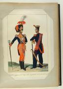 ANONYME. Régiments d'infanterie et Garde royale en grand et petit uniforme vers (1820). (5)