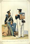 ANONYME. Régiments d'infanterie et Garde royale en grand et petit uniforme vers (1820). (7)