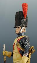 Photo 8 : FIGURINE EN FAÏENCE PAR BERNARD BELLUC : GENDARME D'ÉLITE BRIGADIER 1806.