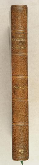 BALINCOURT. (E. de). Le maréchal C. G.Testu de Balincourt. 1680-1770.  (1)