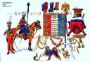 RIGO (ALBERT RIGONDAUD) : LE PLUMET PLANCHE 233 : GARDE IMPERIALE LANCIERS ETENDARD EN 1815.