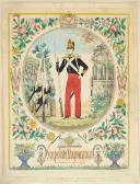 Photo 1 : LETTRE ILLUSTRÉE D'Hypolite HYVAYRAN VOLTIGEUR D'INFANTERIE LÉGÈRE 1829