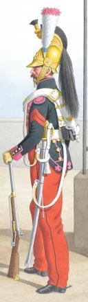 Photo 2 : 1830. Dragons. Adjudant Sous-Officier, Dragon (3e Régiment)