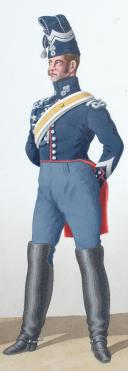 Photo 2 : 1824. Garde Royale. Gendarmerie d'Elite. Gendarmerie, Brigadier.