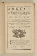 LEMAU DE LA JAISSE. Cinquième Abrégé de la carte générale du militaire de France.  (2)