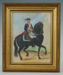 Photo 1 : LUCIEN ROUSSELOT : AQUARELLE ORIGINALE, RÉGIMENT DES CARABINIERS DE MONSIEUR, 1788, XXème siècle.