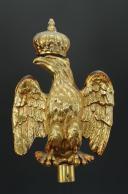 Photo 1 : AIGLE DE DRAPEAU POUR GARDE NATIONAL OU MUSIQUE CIVILE, SECOND EMPIRE.
