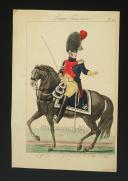 Photo 1 : MARTINET, OFFICIER DES GENDARMES D'ÉLITE EN 1813 : Gravure couleurs, Premier Empire.