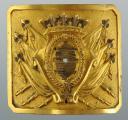 Waistbelt plate of an Officier des Lanciers de Monsieur, model 1814, modified during the Hundred Days. (1)