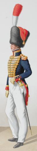 Photo 2 : 1824. Garde Royale. Artillerie à Pied. Lieutenant en Second, Musicien.