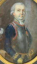 PORTRAIT MINIATURE D'UN MARÉCHAL DE CAMP, ANCIENNE MONARCHIE RÈGNE DE LOUIS XVI.. (2)