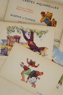 ALGÉRIE & TUNISIE. 24 cartes aquarelles Scènes et Types nord-Africains éditées spécialement pour les Hôtels « Transatlantique».  (4)