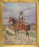 Photo 1 : CAVALIER DU 17° SIÈCLE, AQUARELLE ORIGINALE PAR PIERRE BENIGNI.