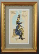 Photo 1 : ROUSSELOT Lucien, CAPITAINE DE VAISSEAU - COMMANDANT  PREMIER EMPIRE,AQUARELLE ORIGINALE.