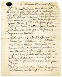 LETTRE NON SIGNÉE DATÉE DE FONTAINEBLEAU le 16 octobre 1746 donnant les détails de la bataille de Raucoux, Guerre de succession d'Autriche.