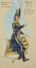 Photo 2 : ROUSSELOT Lucien, CAPITAINE DE VAISSEAU - COMMANDANT  PREMIER EMPIRE,AQUARELLE ORIGINALE.