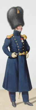 1824. Garde Royale. Artillerie à Pied. Chef de Bataillon, Caporal. (2)