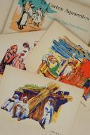 MAROC & ALGÉRIE. 24 cartes aquarelles Scènes et Types nord-Africains éditées spécialement pour les Hôtels « Transatlantique».  (2)