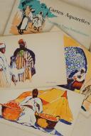 Photo 3 : MAROC & ALGÉRIE. 24 cartes aquarelles Scènes et Types nord-Africains éditées spécialement pour les Hôtels « Transatlantique».