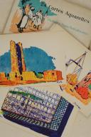 MAROC & ALGÉRIE. 24 cartes aquarelles Scènes et Types nord-Africains éditées spécialement pour les Hôtels « Transatlantique».  (4)