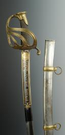 Photo 1 : SABRE D'OFFICIER DE LA GENDARMERIE ROYALE, modèle 1816, RESTAURATION.