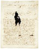 LETTRE DU SOLDAT RONDET (?), 11ème Dragons, À SON FRÈRE ET SA SOEUR demeurant à Lons-le-Saunier, datée Amiens le 30 floreal an 12 (20 mai 1804).