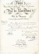Régiment Suisse de Bleuler n°1. LETTRE DU MARÉCHAL DE CAMP BARON DE GADY, AU NOM DU DUC DE BORDEAUX, À SON ALTESSE ROYALE PROPOSANT LE PORTE-DRAPEAU ROHNER JEAN-MARC, dudit régiment, AU GRADE DE LIEUTENANT, St Cloud le 6 juin 1826.