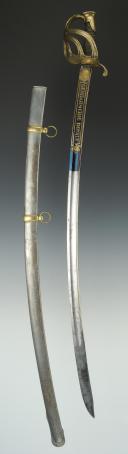 Photo 2 : SABRE D'OFFICIER DE LA GENDARMERIE ROYALE, modèle 1816, RESTAURATION.