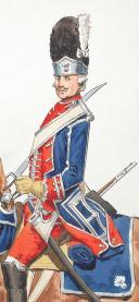 """Photo 2 : Mousquetaire gris et Grenadier à cheval de la Maison du Roi 1775, 2 aquarelles originales par Lucien ROUSSELOT d'après """"La Sabretache"""", collection CARLETL"""