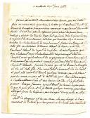 Photo 2 : 3 LETTRES DU SOLDAT CLAUDE DE MOYNIER, seigneur de Blancard et Malherbe, maréchal des camps et armées du Roi, capitaine au régiment du Limousin, Gouverneur de Brest en 1789, à son père à Lunel (14 juillet 1759), son frère Henri Hyacinthe (26 août 1761) et son cousin Mr De Baguet père (12 juin 1788).