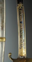 Photo 3 : SABRE D'OFFICIER DE LA GENDARMERIE ROYALE, modèle 1816, RESTAURATION.