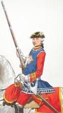"""Photo 4 : Mousquetaire gris et Grenadier à cheval de la Maison du Roi 1775, 2 aquarelles originales par Lucien ROUSSELOT d'après """"La Sabretache"""", collection CARLETL"""