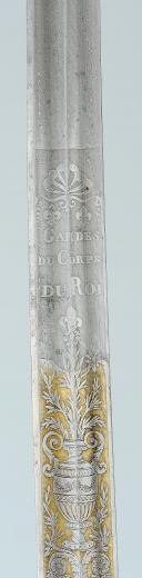 SABRE D'OFFICIER SUPÉRIEUR DES GARDES DU CORPS DU ROI, MODÈLE 1816, RESTAURATION. (7)