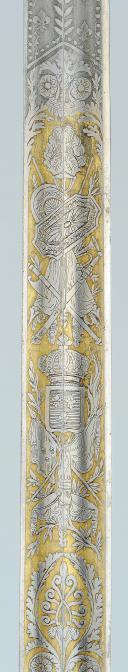 SABRE D'OFFICIER SUPÉRIEUR DES GARDES DU CORPS DU ROI, MODÈLE 1816, RESTAURATION. (9)