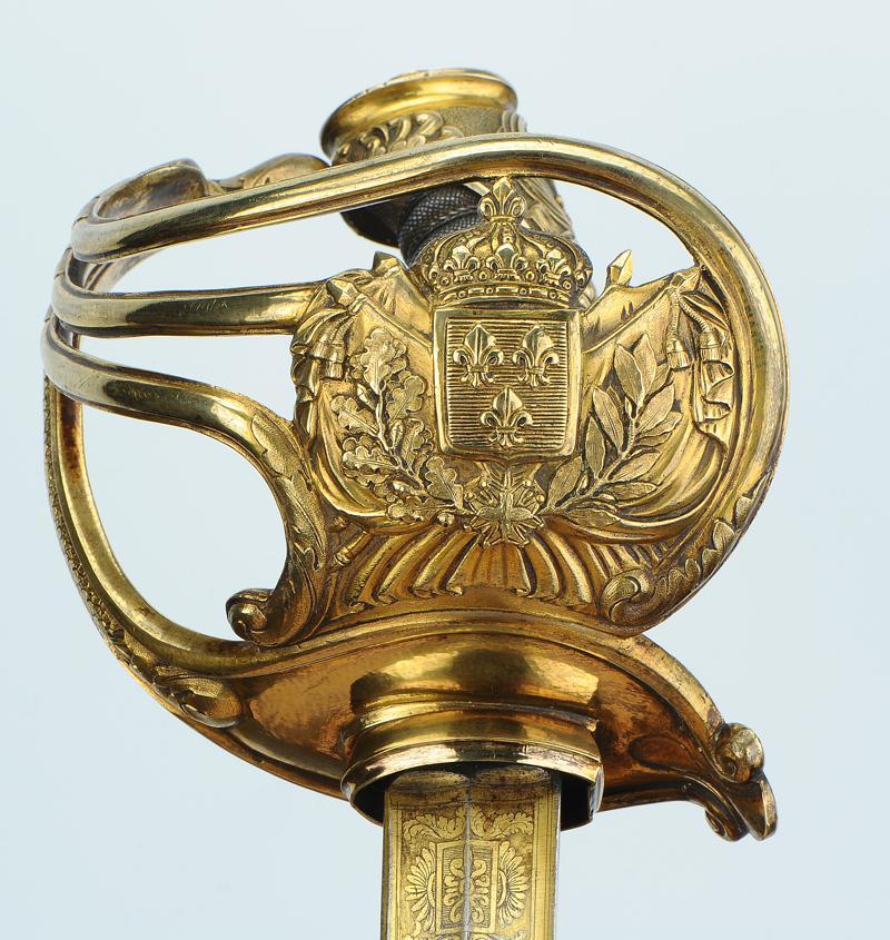 sabre d 39 officier sup rieur des gardes du corps du roi mod le 1816 restauration. Black Bedroom Furniture Sets. Home Design Ideas