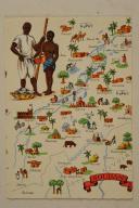 Carte postale mise en couleurs représentant la région du «SOUDAN».