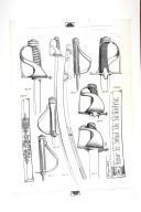 SABRES DE REPRÉSENTANTS DU PEUPLE AUX ARMES 1792-1793; planche 1, TOME XVII, 3e fascicule 1970