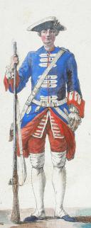 """Photo 2 : PLANCHE ORIGINALE N° 55 par BAUDOUIN - """" Exercice de l'Infanterie Françoise ordonné par le Roy le VI May M.D.CC IV 1757""""."""
